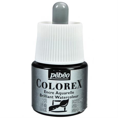 Pebeo Colorex Ink Ivory Black 45ml Image 1