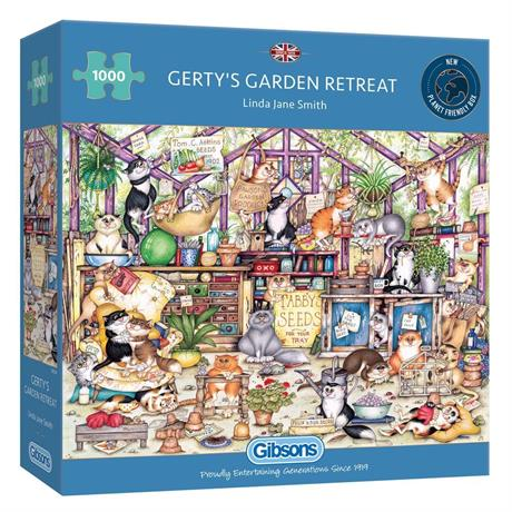 Gerty's Garden Retreat 1000 Piece Jigsaw Puzzle Image 1