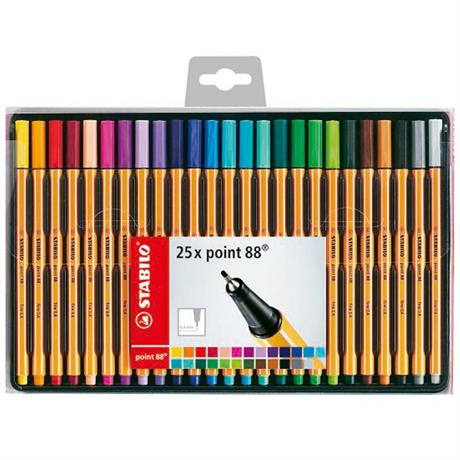 STABILO Point 88 Wallet of 25 Assorted Colours Image 1