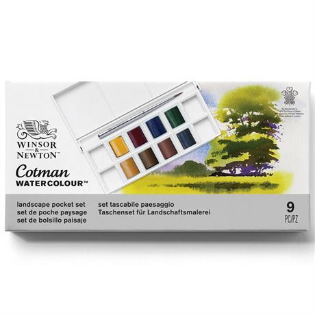 Cotman Watercolour Landscape Pocket Set Image 1