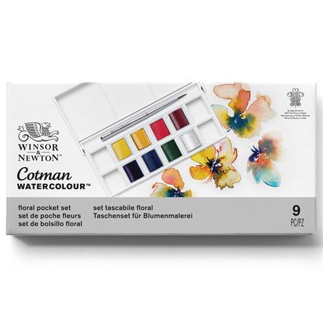 Cotman Watercolour Floral Pocket Set Image 1