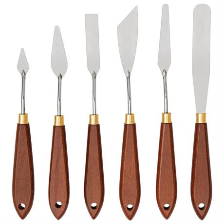 Liquitex Basics Metal Painting Knives Set Of 6 Image 1