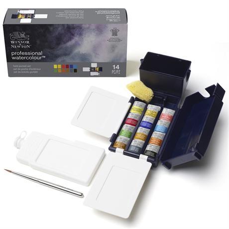 Winsor & Newton Professional Watercolour Field Box 12 Half Pans Image 1