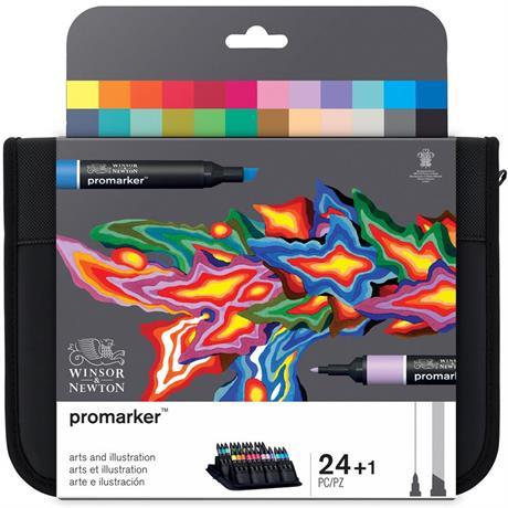 Winsor & Newton ProMarker Arts & Illustration 24 Set Image 1