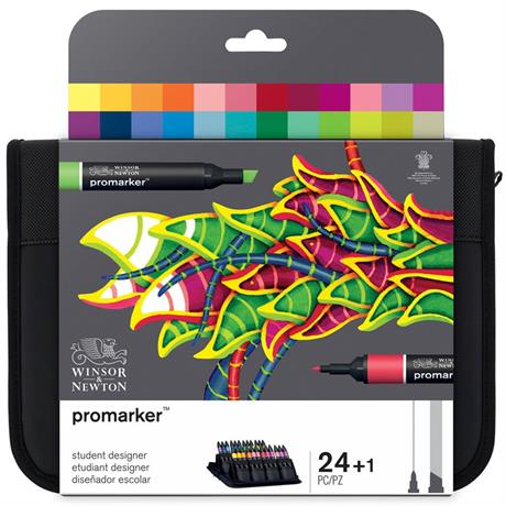 Winsor & Newton Promarker 24 Student Designer Set Image 1