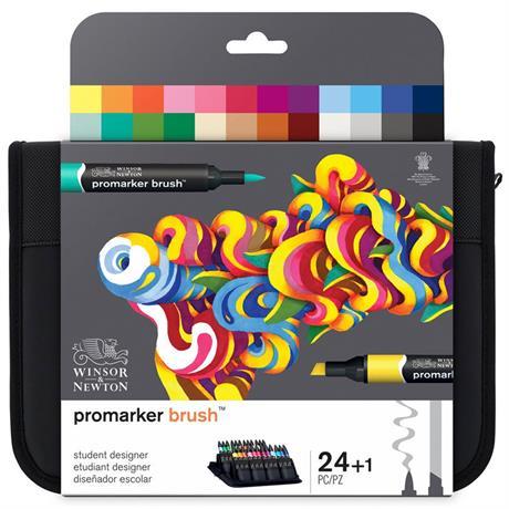 Winsor & Newton BrushMarker Student Designer 24 Set Image 1