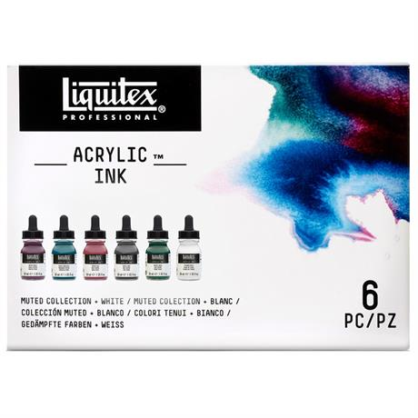 Liquitex Acrylic Ink Set Muted Collection 6x30ml Image 1
