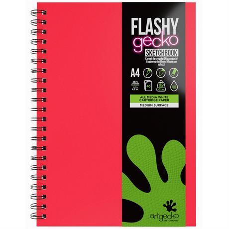 Artgecko Flashy Gecko Sketchbooks Spiral Bound Image 1
