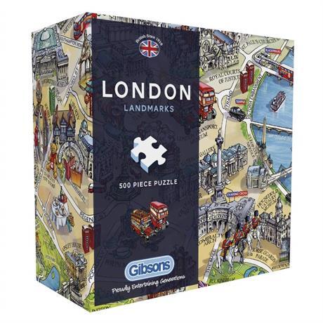 London Landmarks 500 Piece Gift Jigsaw Puzzle Image 1