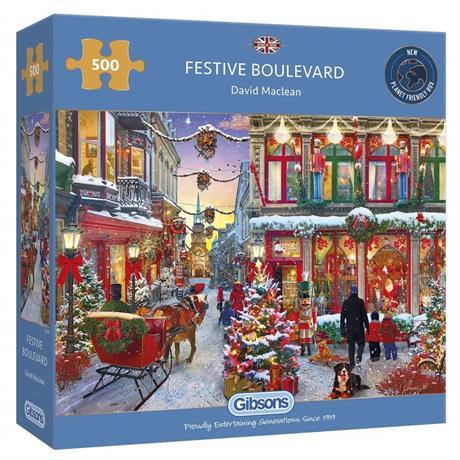 Festive Boulevard 500 Piece Jigsaw Puzzle Image 1