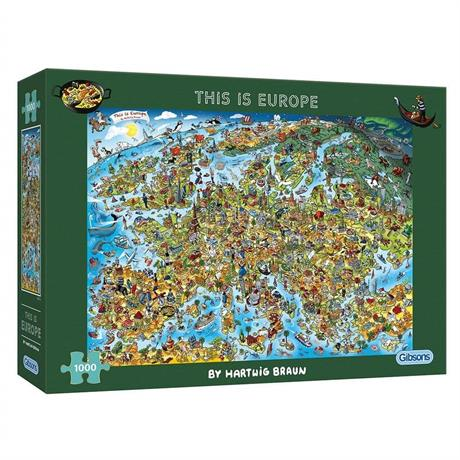 This is Europe 1000 Piece Jigsaw Puzzle Image 1