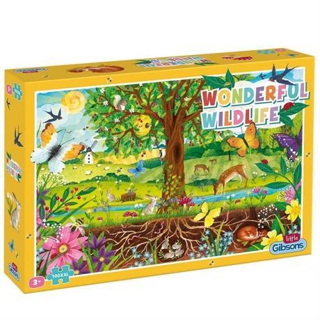 Wonderful Wildlife Children's 100XXL Piece Jigsaw Puzzle Image 1