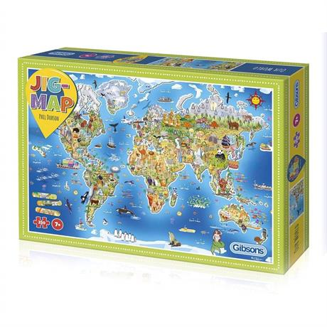 Jigmap Our World Children's 250 Piece Jigsaw Puzzle Image 1
