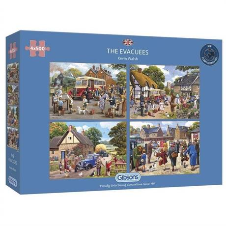 The Evacuees 4 x 500 Piece Jigsaw Puzzle Image 1