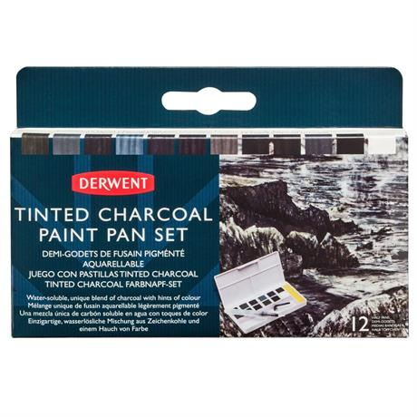 Derwent Tinted Charcoal Paint Pan Set Image 1