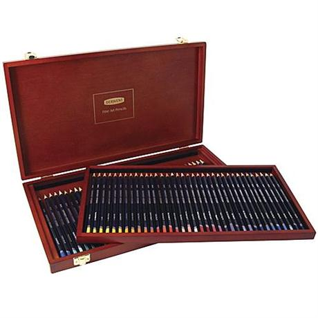 Derwent Studio Pencils Wooden Box of 72 Image 1