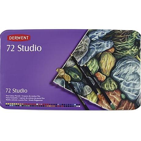 Derwent Studio Pencils Tin of 72 Image 1