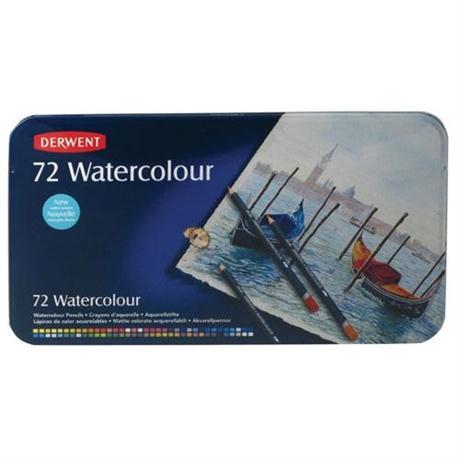Derwent Watercolour Pencils Tin of 72 Image 1