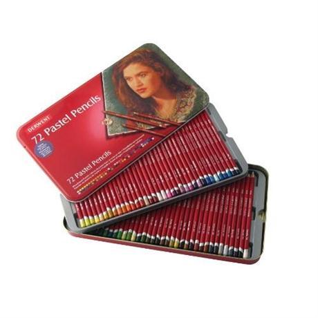 Derwent Pastel Pencils Tin of 72 Image 1