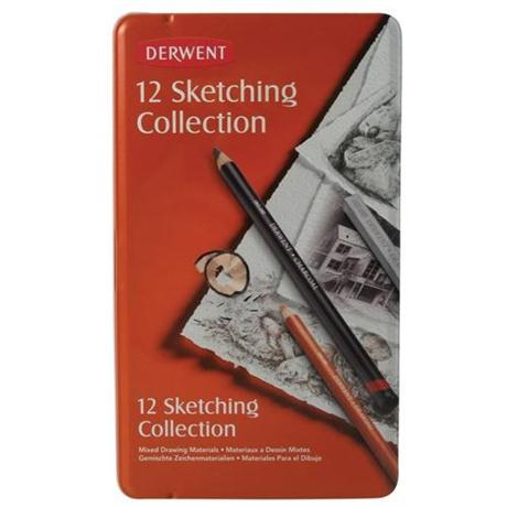 Derwent Sketching Collection 12 Tin Image 1