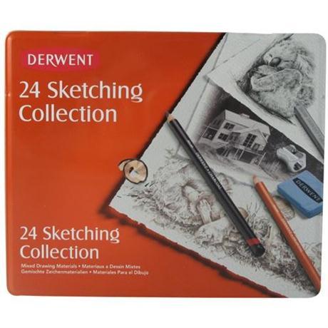 Derwent Sketching Collection 24 Tin Image 1