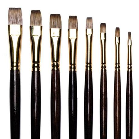 Winsor & Newton Monarch Brushes - Flat Image 1