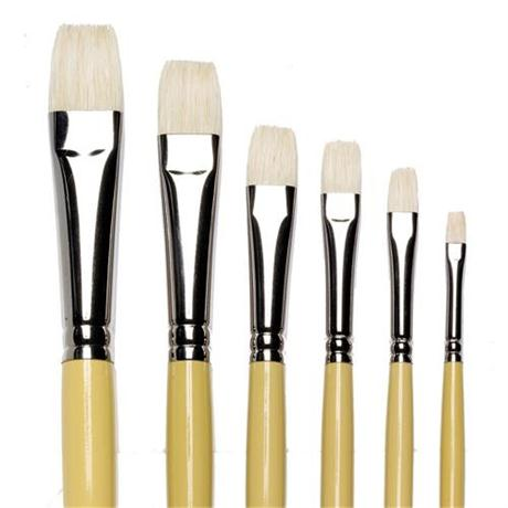 Winsor & Newton Artists' Hog Brush Short Flat Image 1