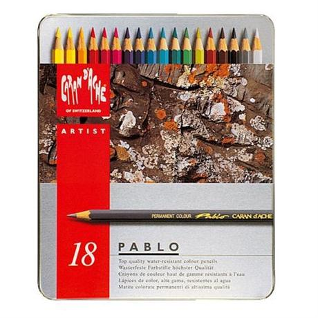 Pablo Tin of 18 Pencils Image 1