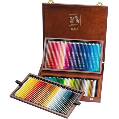 Caran D'ache Wooden Box Of 120 Pablo Pencils Image 1