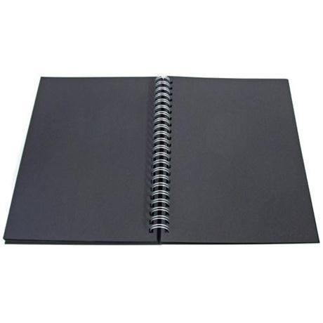 Daler Rowney Black Paper Hard Back Spiral Sketch Book Image 1
