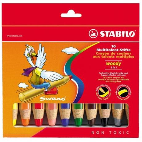 STABILO Woody Pencils Pack of 10 Image 1