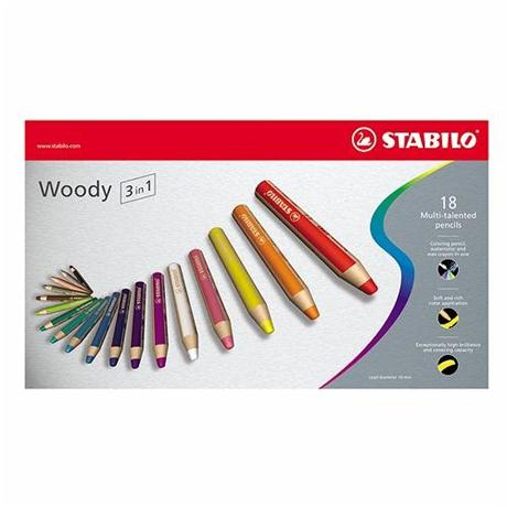 STABILO Woody Pencils Pack of 18 Image 1