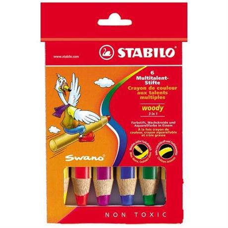 STABILO Woody Pencils Pack of 6 Image 1