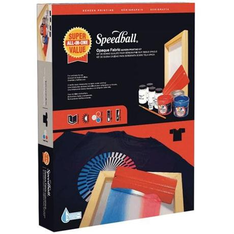 Speedball Super Value Opaque Fabric Screen Printing Kit Image 1