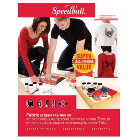 Speedball Super Value Fabric Screen Printing Kit Image 1