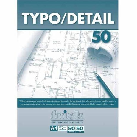 Frisk Typo Detail Pads 50gsm Image 1
