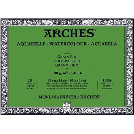 Arches Aquarelle Water Colour Blocks Cold Pressed140lbs / 300gsm  Image 1
