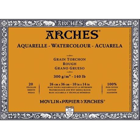 Arches Aquarelle Water Colour Blocks Rough 140lbs / 300gsm  Image 1