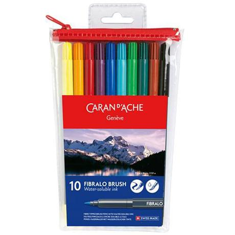 Caran d' Ache Fibralo Brush set of 10 assorted