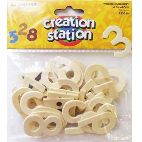Creation Station Wooden Numbers & Symbols Image 1