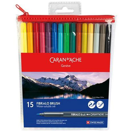 Caran d' Ache Fibralo Brush Pen 15 assorted