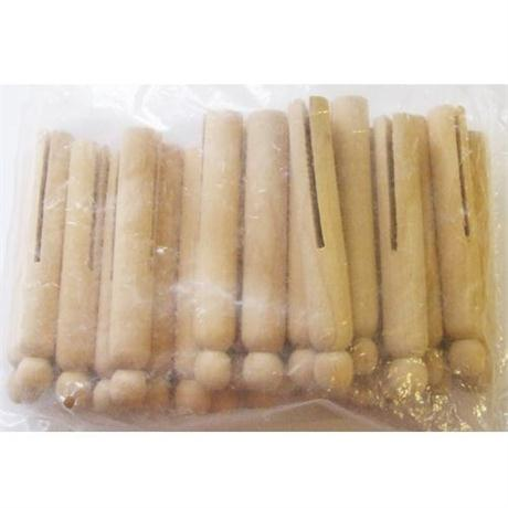 Natural Wooden Dolly Pegs Image 1