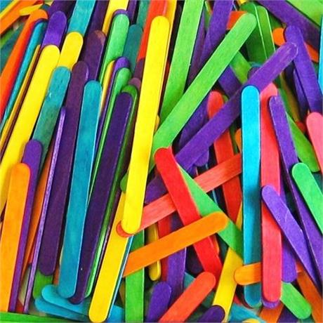 Value Pack of Lollipop Sticks Coloured Image 1