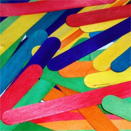 Value Pack of Jumbo Lollipop Sticks Coloured Image 1