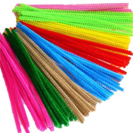 Pack of Coloured Pipe Cleaners 150mm Image 1