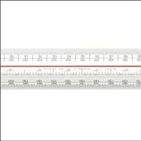 300mm Verulam Triangular Scale Rule Metric A Image 1