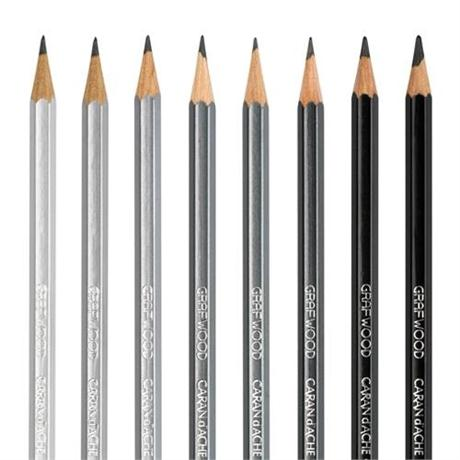 Caran d'Ache Grafwood Graphite Pencils Image 1