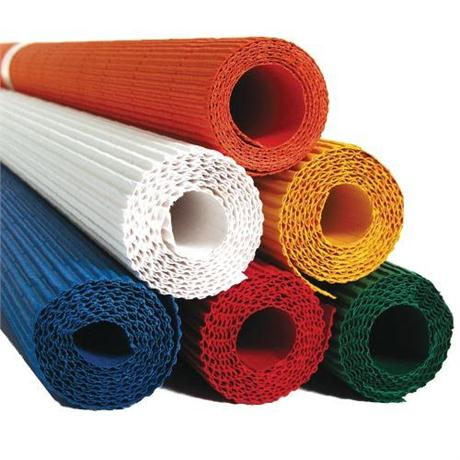 Rolls Of Coloured Corrugated Card 50 x 70cm 300gsm Image 1