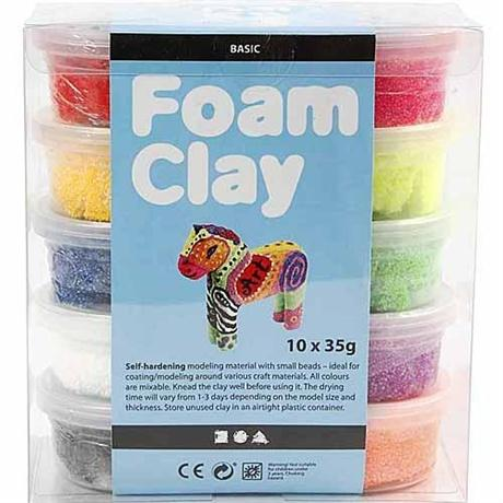 Foam Clay 10 x 35g Basic Set Image 1