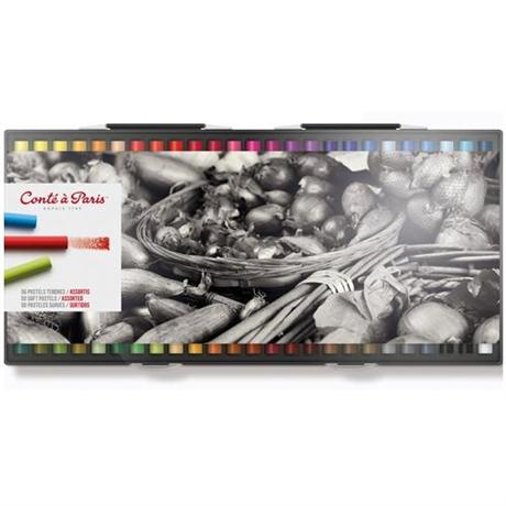 Conte Soft Pastels Assorted Set of 50 Image 1